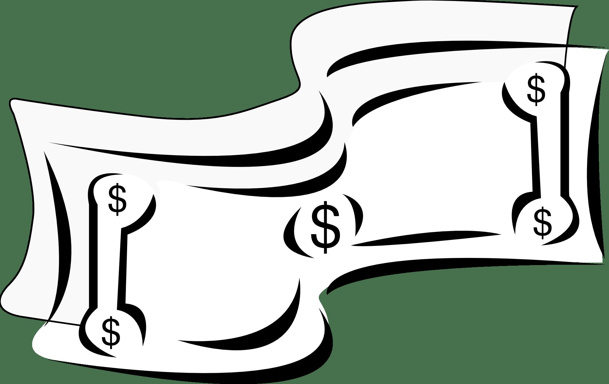 Dollar Bill Clip Art Black And White