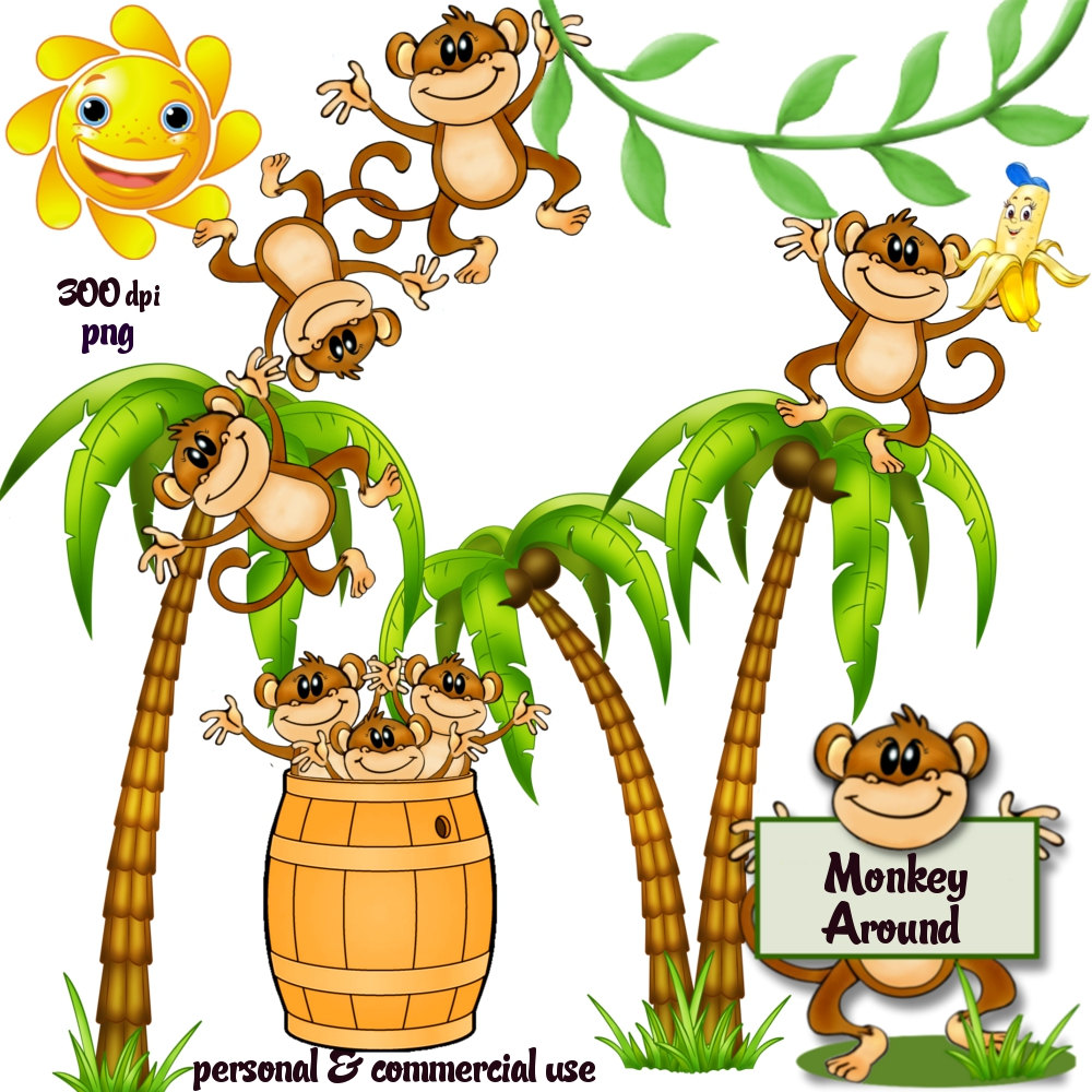 Monkeys And Bananas Cute Wallpaper Heirloom Clipart Clipart Panda Free Clipart Images