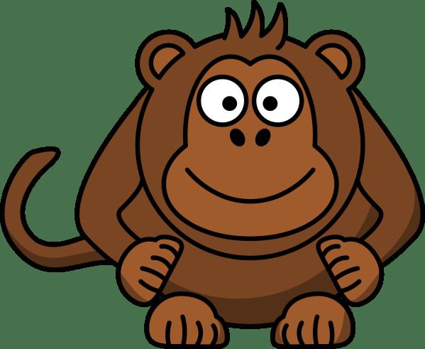 monkey cartoon clipart panda