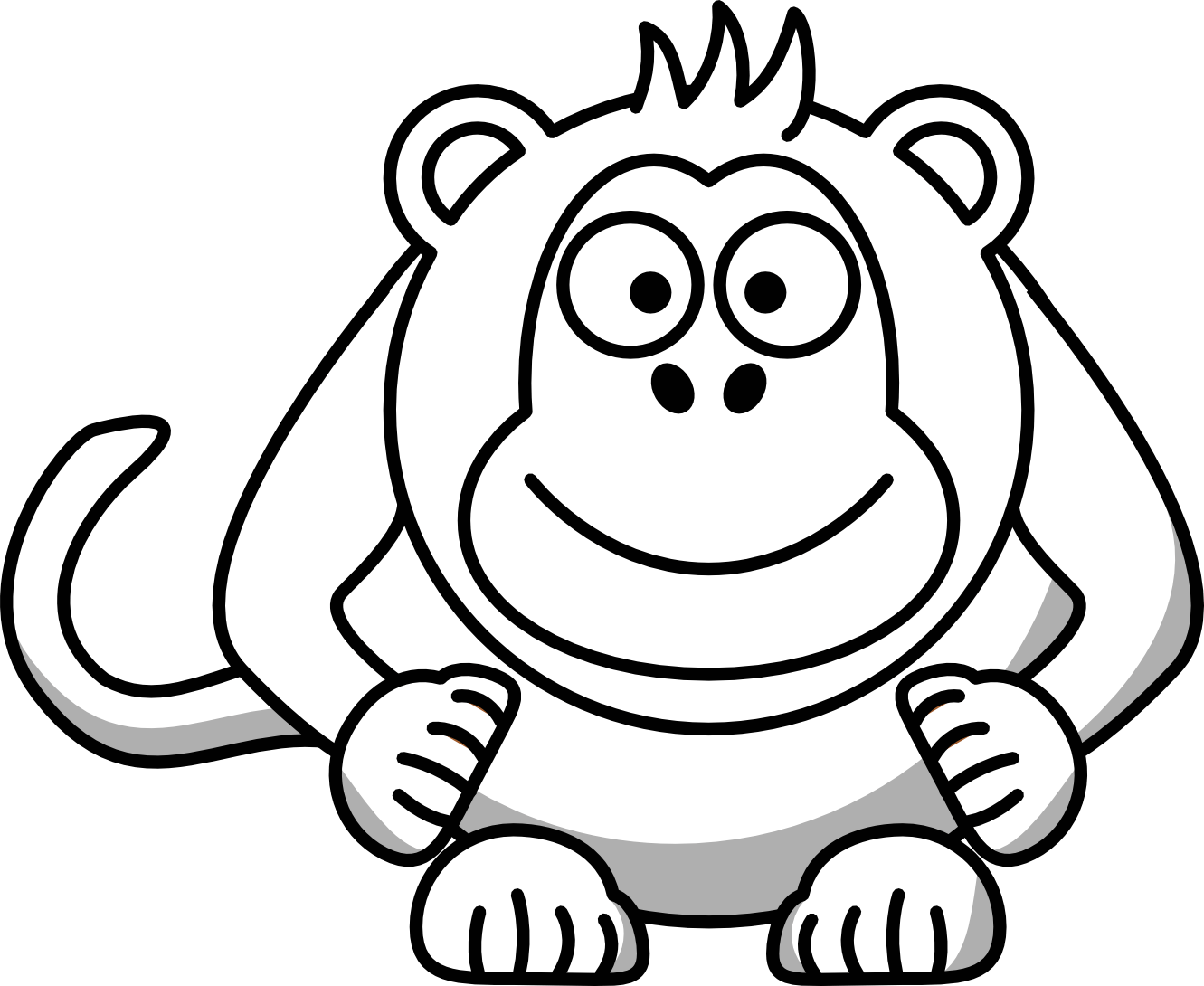 Monkey Clip Art Black And White Clipart Panda