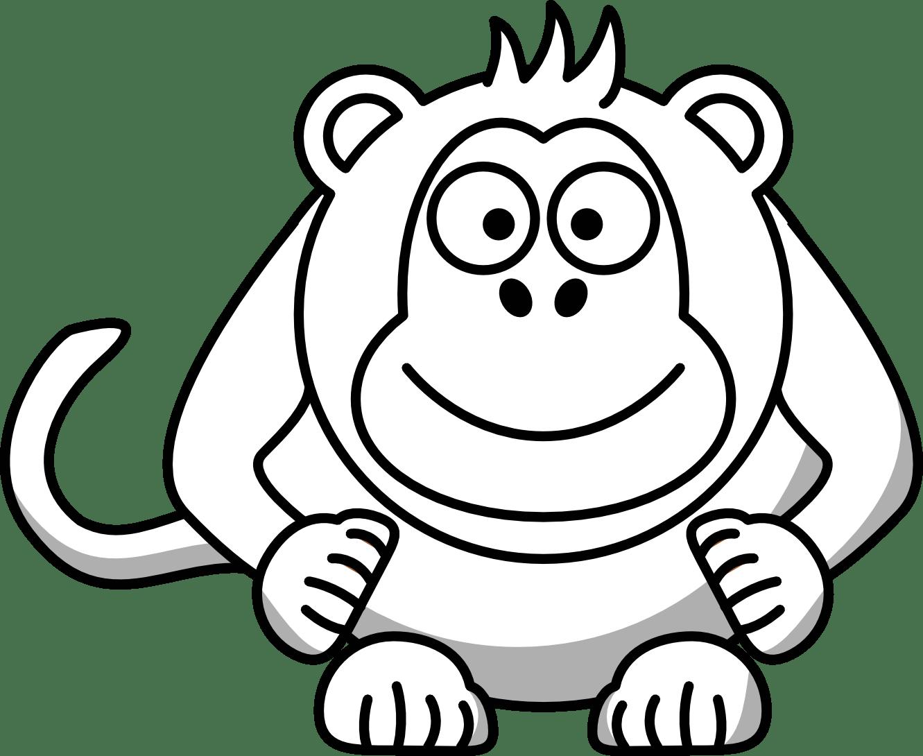 Monkey Clipart Black And White Clipart Panda