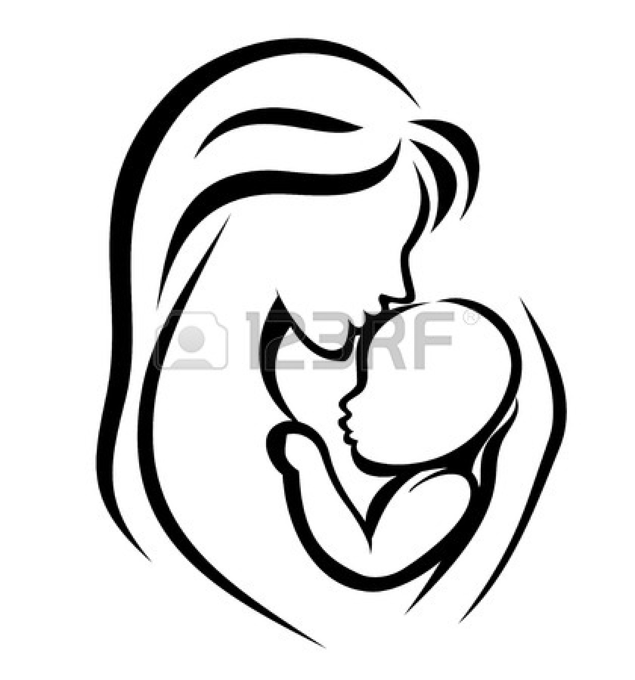 Mother And Baby Clipart Clipart Panda