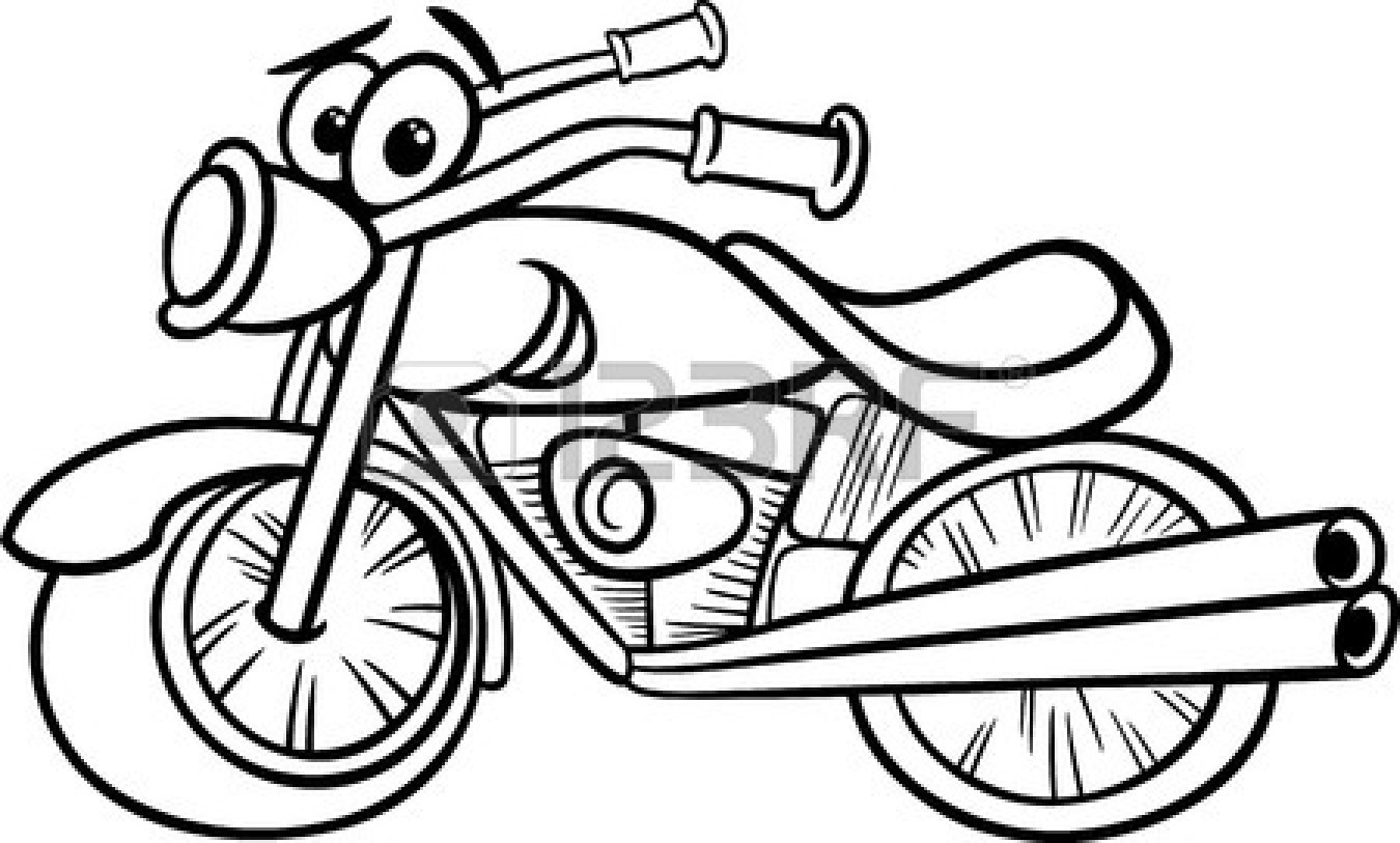 Motorcycle Clipart Black And White Clipart Panda