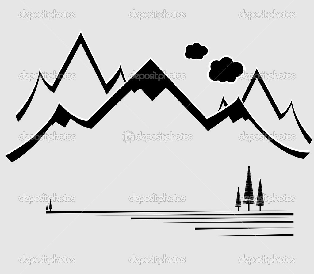 Mountain Range Silhouette Clip Art Clipart Panda