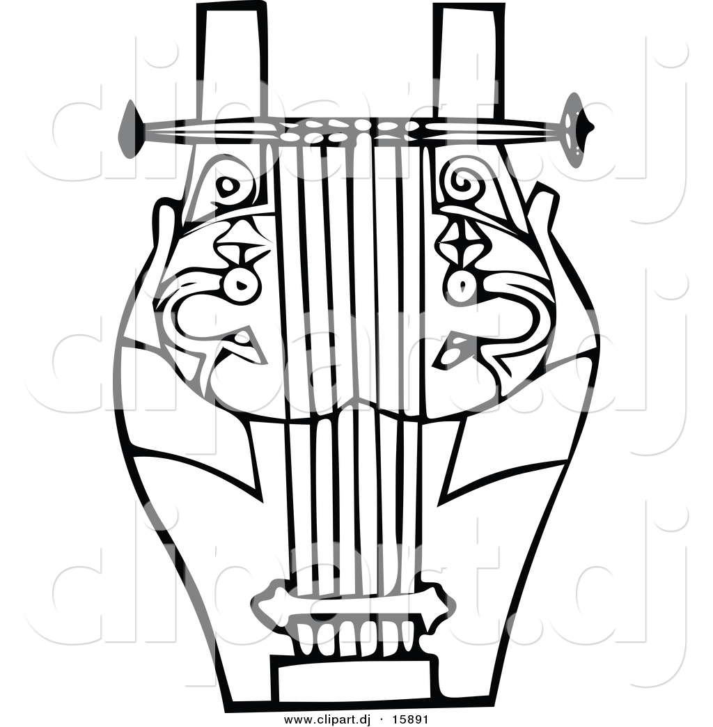 Music Instrument Clipart Black And White