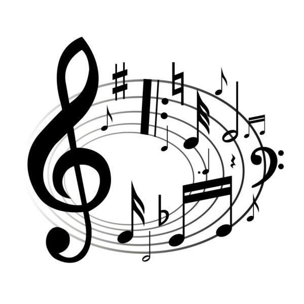 music notes clipart panda