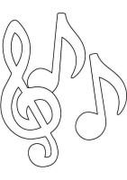 Musiknoten Bilder Zum Ausmalen   Malvorlagen