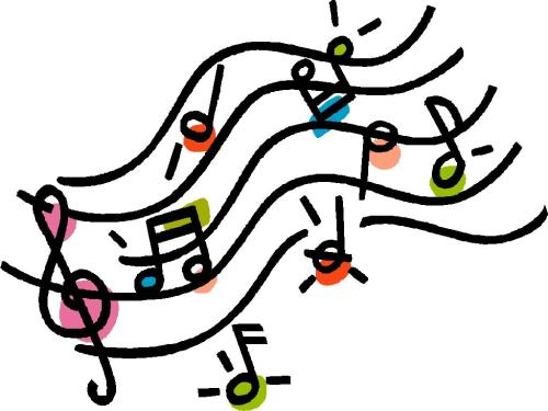 small resolution of music notes on staff clipart