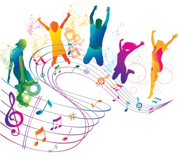 musical notes background clipart