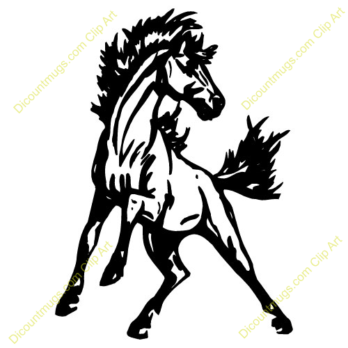 Red Mustang Horse Clipart