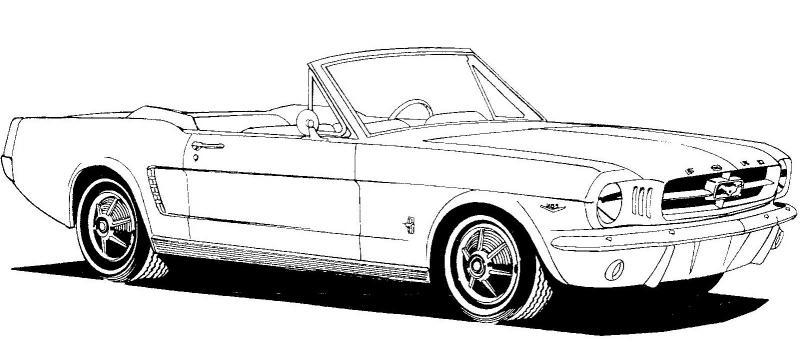 1965 Mustang Clipart