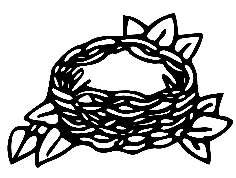 Nest Clip Art Black And White Clipart Panda