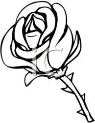 clip rose clipart cartoon stem clipartpanda terms vector
