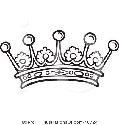 Pageant Black And White Clipart