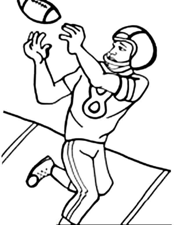 Cartoon American Football Coloring Pages