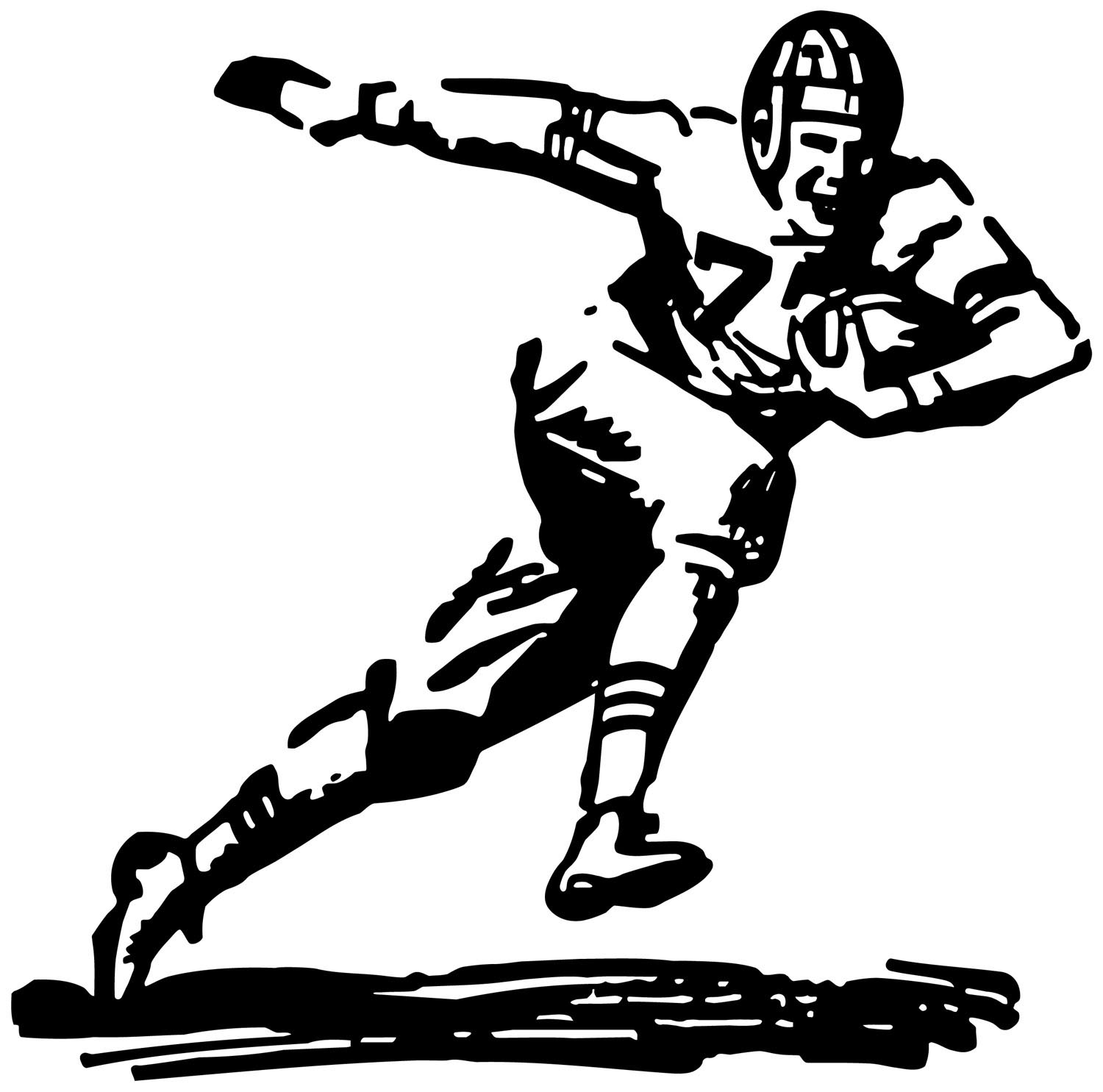 Nfl Football Player Throw Clipart Panda