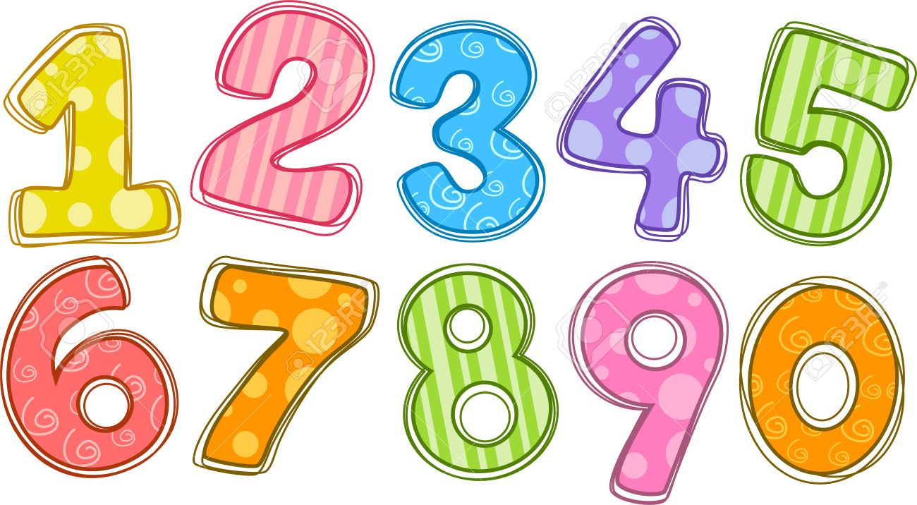 hight resolution of number clipart