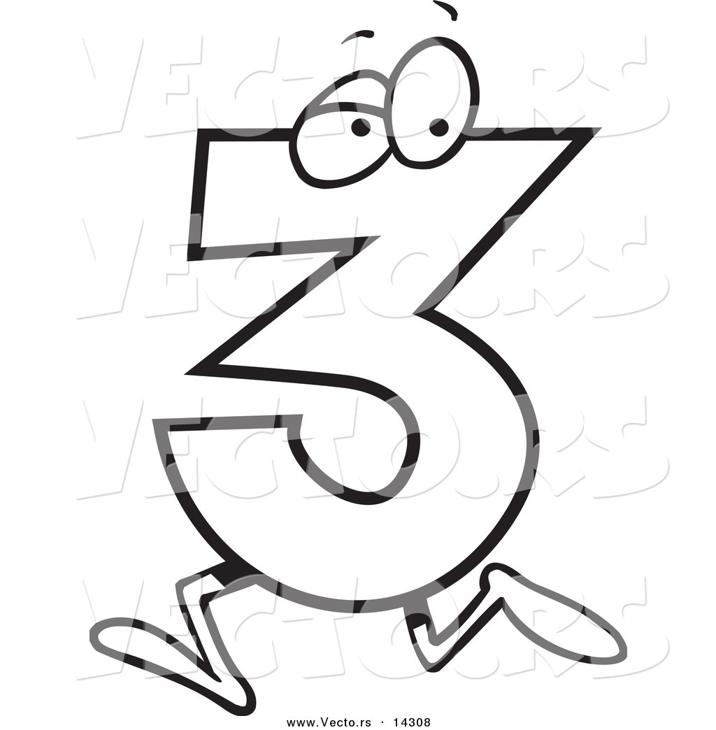 hight resolution of number three clipart