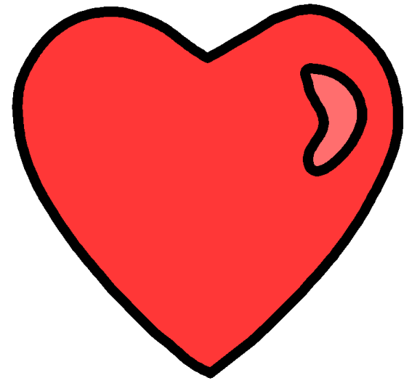 clipart real heart panda