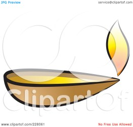 Clay Lamp Clipart Black And White