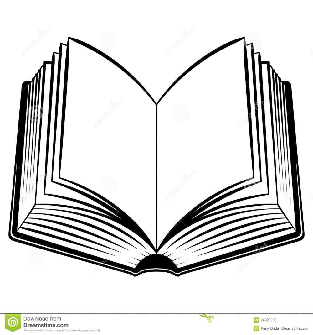 medium resolution of open book outline clipart