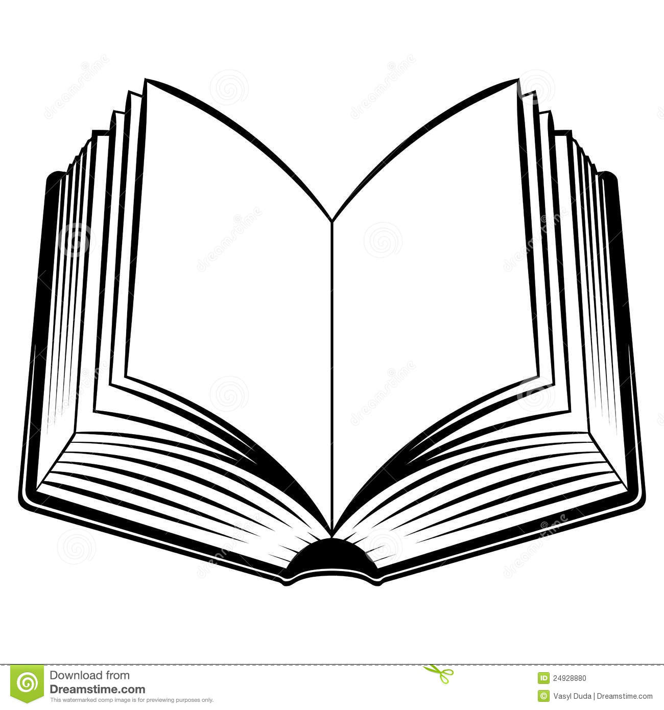 hight resolution of open book outline clipart