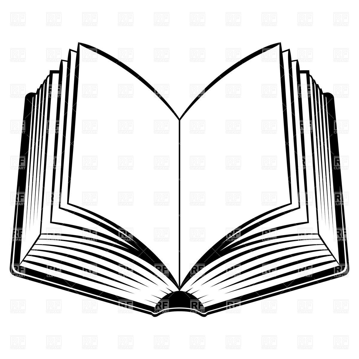 Open Book Outline Clipart Clipart Panda