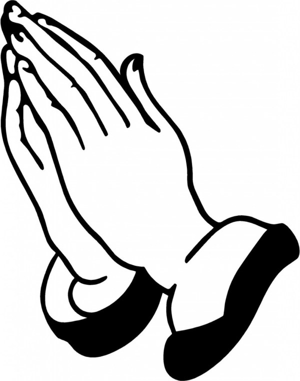 open praying hands drawing clipart