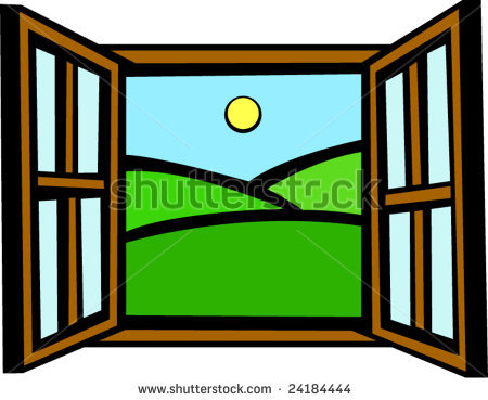 open window clipart snow