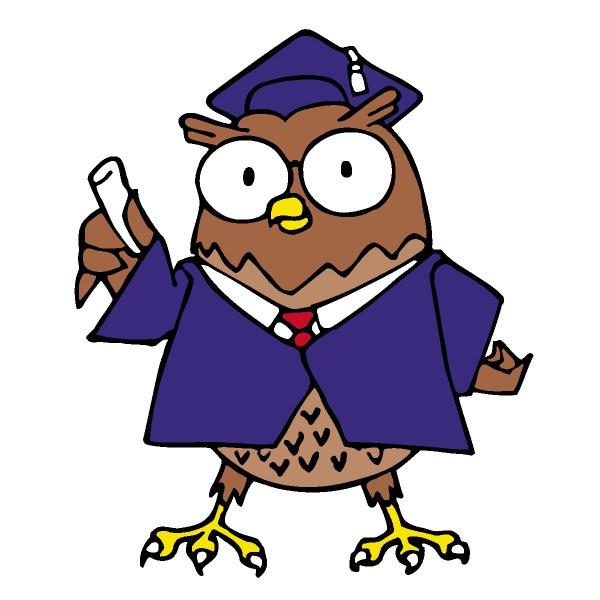 Owl School Clipart Panda - Free