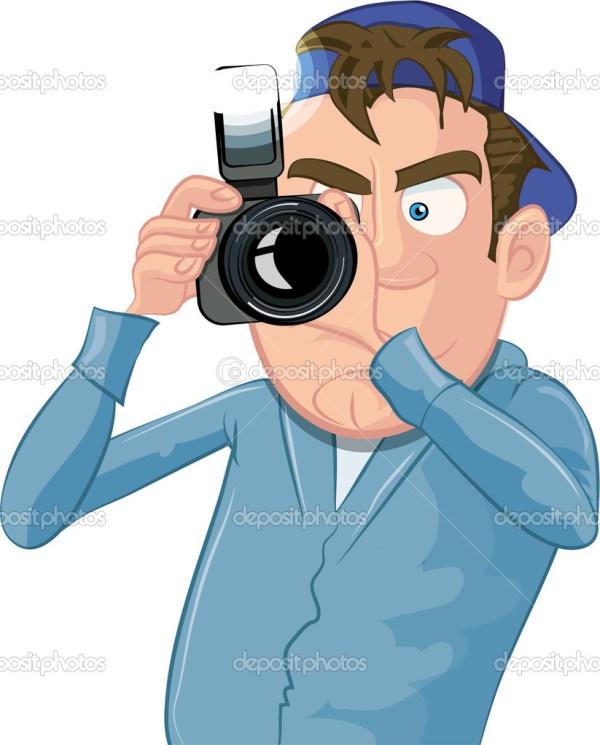 Cartoon Paparazzi Camera Clip Art