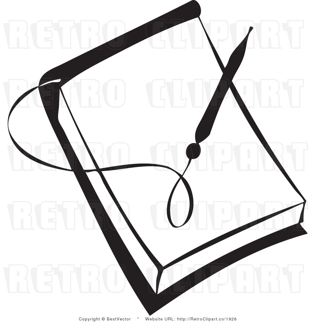 Pencil And Paper Clipart Black And White