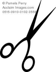 vintage hair scissors clip art