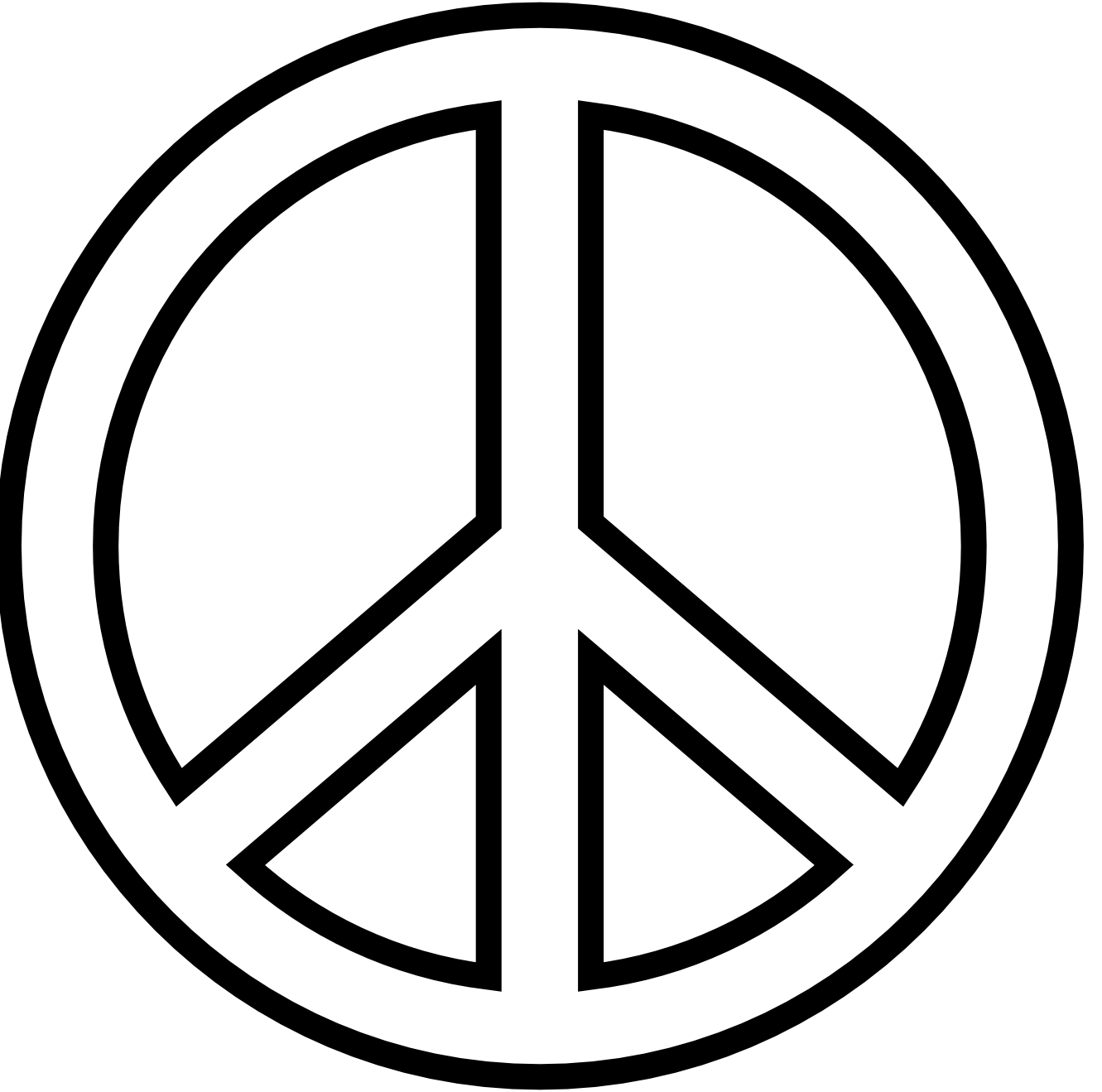 Peace Sign Clipart Black And White Clipart Panda