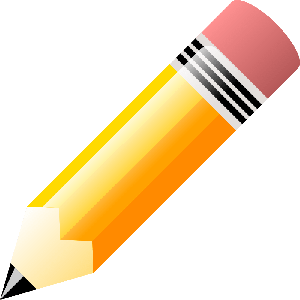 hight resolution of pencil clip art