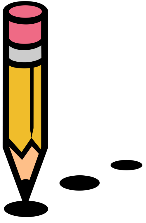small resolution of pencil silhouette vector