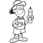 pencil writing clipart holding boy cartoon clipartpanda terms