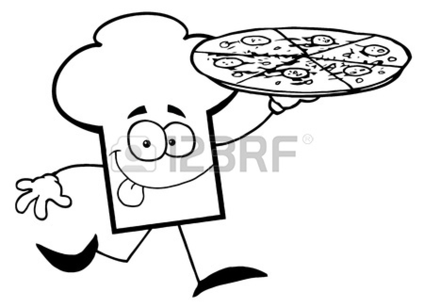 Pepperoni Pizza Clipart Black And White
