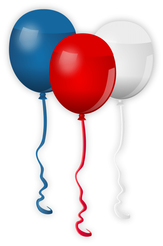 red white and blue clipart