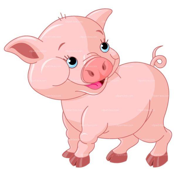 pig clip art cartoon clipart