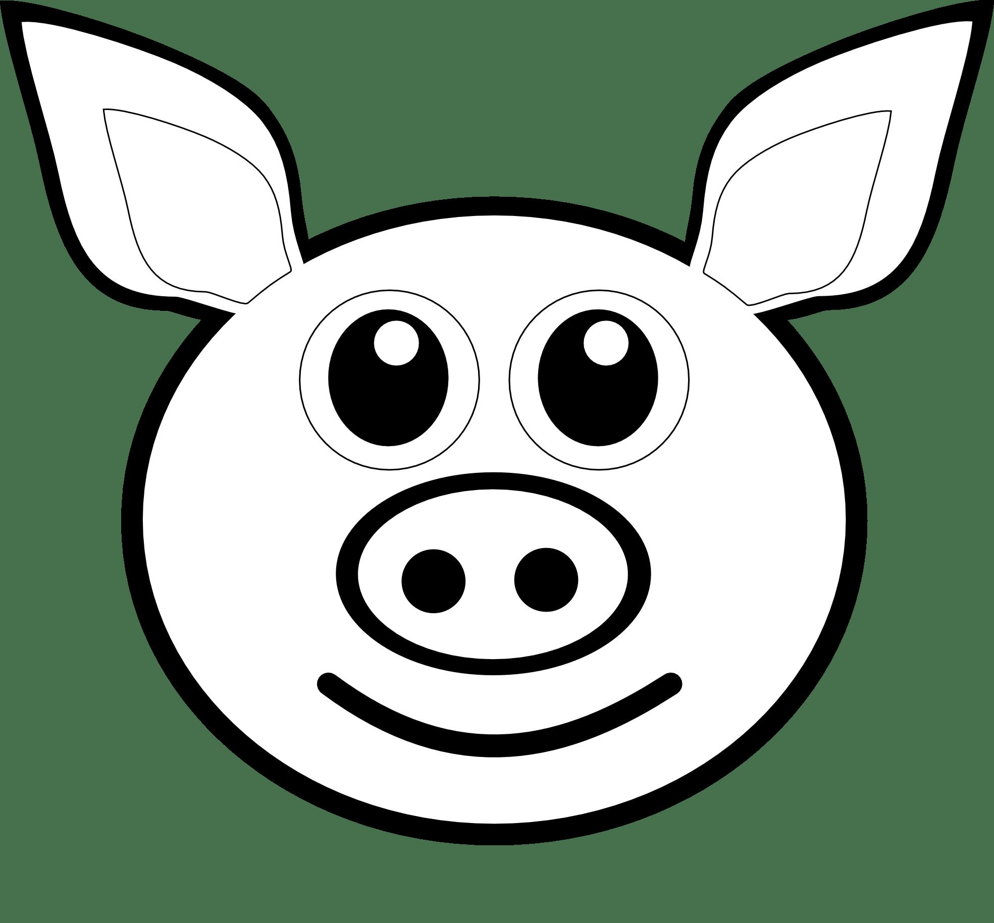 Pig Face Clipart Clipart Panda