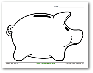 Piggy Bank Coloring Coloring Pages