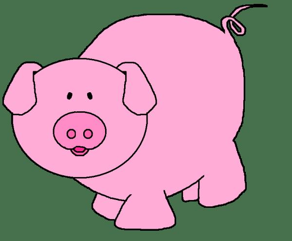 pig clip art black and white