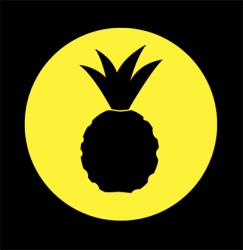pineapple stencil silhouette yummm delicious clipart liz