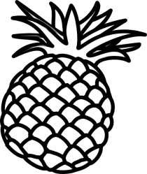 Pineapple Outline clip art Clipart Panda Free Clipart Images