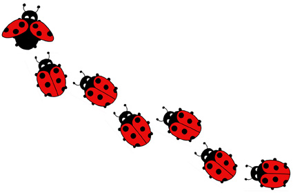 pink lady bug tattoo clipart