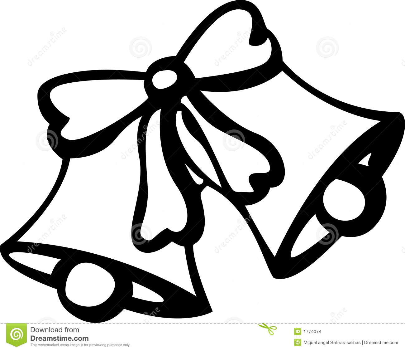 Wedding Bells Clipart Black And White