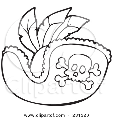Pirate Hat Template Printable Sketch Coloring Page