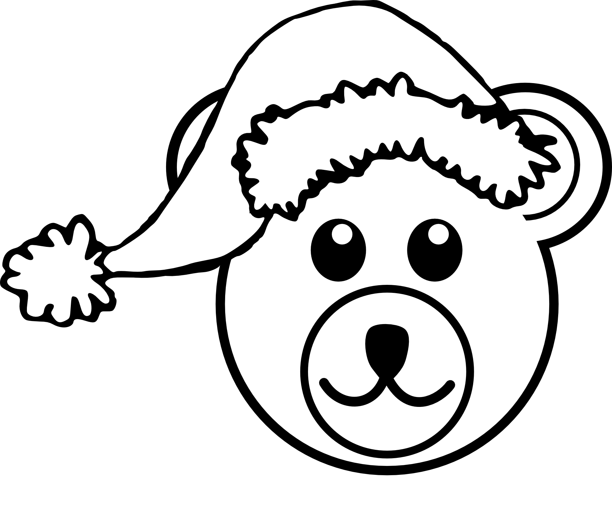 Pirate Clipart For Kids Black And White