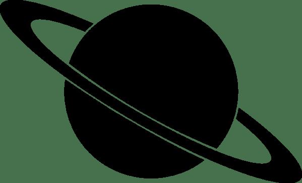 planet clip art black and white